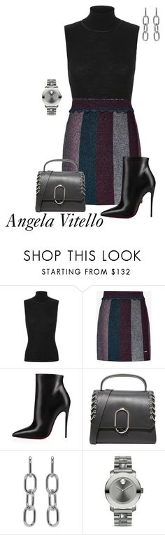 Untitled #1065 by angela-vitello on Polyvore featuring rag & bone, Ted Baker, Christian Louboutin, 3.1 Phillip Lim, Alexander Wang and Movado