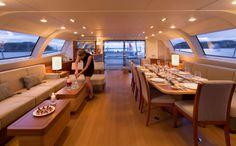 Oyster 125 flybridge saloon #theyachtownernet #sailing #luxury