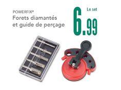 Forets diamantés et guide de perçage