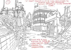 Enjoy a series of Drawing Tips by Thomas Romain on backgrounds, buildings, interiors & more. Thomas Romain is a French animator who is responsible for Background Drawing, Line Background, Animation Background, Thomas Romain, The Last Of Us, Building Drawing, Poses References, Photoshop Design, God Of War