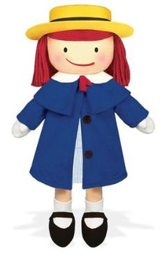 "Madeline 16"" Soft Doll by Yottoy. $33.30. Inspired by the classic storybooks by Ludwig Bemelmans and John Bemelmans Marciano. Removable blue fleece coat, blue and white school dress, white gloves, yellow felt hat with grosgrain ribbon trim. Blush cheeks, famous red yarn hair, socks and shoes. Even comes with an embroidered appendix scar. Madeline 16"" soft doll. From the Manufacturer                Madeline steps out of her books and into your arms as your very own..."