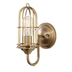 """Check out the Feiss WB1703DAB Urban Renewal 12-1/4"""" 1 Light Wall Sconce in Dark Antique Brass priced at $98.00 at Homeclick.com."""