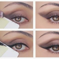 Clever trick for applying a sharp cat-eye using a credit card.  I will probably try this with a business card first.  LOL