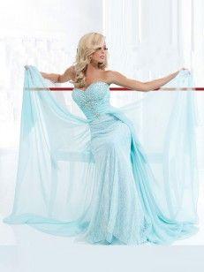 A-Linje Prinsesse Kjæreste Feie / Børste Tog Chiffon Lace Dress