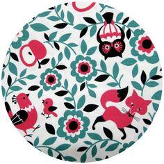Fabric ::: Kokka Japan, Winter 2013, Forest Mix Turquoise; fabricworm
