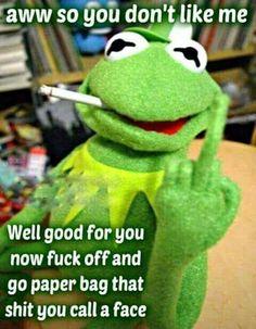 Adult humor. Kermit meme