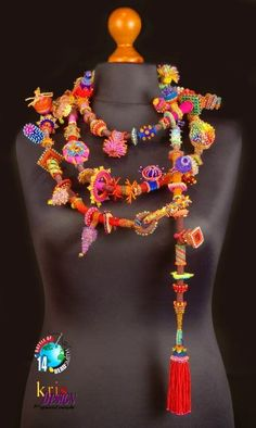 Beautiful necklaces from BOTB 2014 (I) | Beads Magic.  I love the color combinations.  Over the top!!