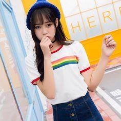 $22 httpsushi - Rainbow Ringer Shirt