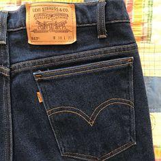 006d5d49 Vintage Orange Tab Levi's Denim 517 Blue Jeans Mens Size 36 X 31 Levi  Strauss