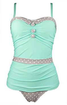 Cocoship Mint Green & Tan White Polka Dot Women's Retro   https://www.amazon.com/gp/product/B01N35IR0D/ref=as_li_qf_sp_asin_il_tl?ie=UTF8&tag=rockaclothsto_bikini-20&camp=1789&creative=9325&linkCode=as2&creativeASIN=B01N35IR0D&linkId=30546d915538fc9e70fbcaaa39ea6b09