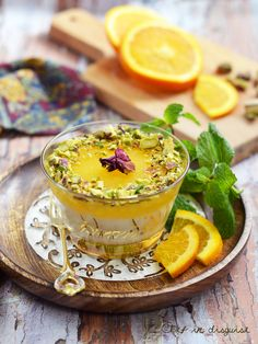 Rice pudding with orange curd topping. A Middle Eastern delicacy that really takes rice pudding to the next level