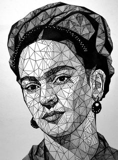 22 Frida Kahlo tribute illustrations created by young artists - Zeichnen - Origami Frida E Diego, Frida Art, Art Sketches, Art Drawings, Instalation Art, Arte Pop, Pen Art, Art Plastique, Geometric Art