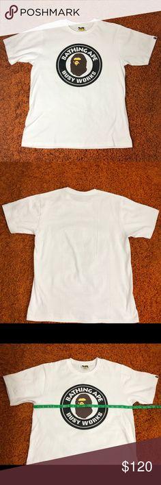 113f01c3 BAPE Busy Works Mens Tee White Medium BAPE Busy Works Mens Tee White Medium  Dimensions: