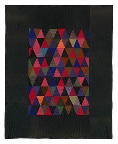 "Amish quilts. 093: Triangles crib quilt, Kalona, Iowa circa 193041""x33"""