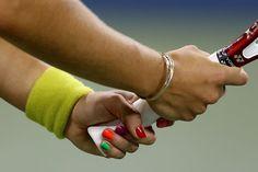 Coloured nails Fascinator, Nail Colors, Silver Rings, Nail Art, Colourful Nails, Hands, Tennis, Facial, Jewelry