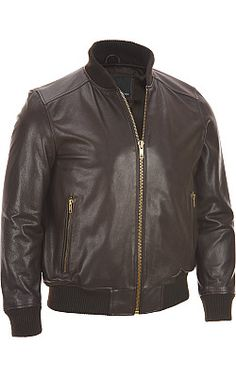 Wilsons Leather Varsity Bomber Jacket  - #WilsonsLeather #Leather
