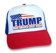 fc82bbaef0b Make America Great Again Hat Donald Trump 2016 Republican Adjustable Mesh  Cap