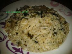 Petite soupe de riz aux blettes et petits lardons Or, Grains, Rice, Rice Soup, Cream Soups, Conch, Recipes, Laughter, Jim Rice