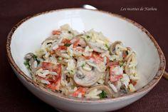 Les recettes de Nathou: Riz crémeux aux champignons de paris et chorizo