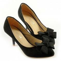$17.23 Pretty Women's Pumps With Bows and Solid Color Design