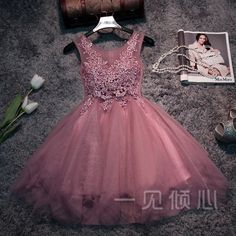 This pin was discovered by sarah bradley. Dama Dresses, Pink Prom Dresses, Grad Dresses, Short Bridesmaid Dresses, Quinceanera Dresses, 15 Dresses, Pretty Dresses, Homecoming Dresses, Evening Dresses