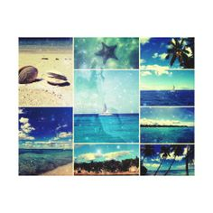 60% OFF Calendars & Wrapped Canvas! #zazzle #coupon Starry Starry Caribbean Collage Gallery Wrapped Canvas