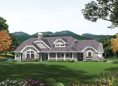 Country House Plan with 1915 Square Feet and 3 Bedrooms from Dream Home Source | House Plan Code DHSW076248