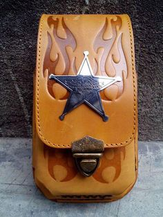 HARLEY DAVIDSON CELL PHONE/SMARTPHONE CASE/WALLET BELT GENUINE LEATHER 2 POUCH