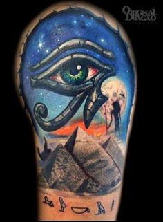 Eye-of-Horus-With-Great-Pyramid-Of-Giza-Tattoo-Design-For-Shoulder-By-Fred-Stefani.jpg (761×1037)