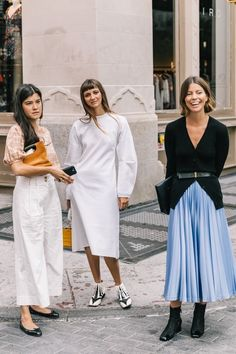 Ideas for fashion casual chic white skirts Street Style New York, Modern Street Style, Street Style Summer, Street Style Looks, Looks Style, Street Styles, Look Fashion, Trendy Fashion, Girl Fashion