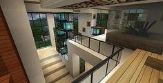 Modern house with style minecraft build 10