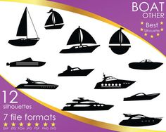 Hey, I found this really awesome Etsy listing at https://www.etsy.com/listing/504338334/12-silhouettes-boat-barge-bark-yacht