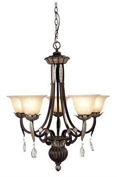 Orleans Chandelier (LVX-8145-40). Orleans - Chandelier - Hand Rubbed Bronze with Antique Silver Accents - 26 x 30 Product Specifications Fixture Type Chandelier Collection Orleans Finish Hand Rubbed Bronze with Antique Silver Accents Glass Champagne Al.. . See More Chandeliers at http://www.ourgreatshop.com/Chandeliers-C1008.aspx