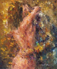 Hug of Lust. Oil on canvas, palette knife.