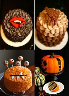 Wonderful Fall food ideas pics | wonderful fall cake and a Halloween themed purple and white cake! So ...