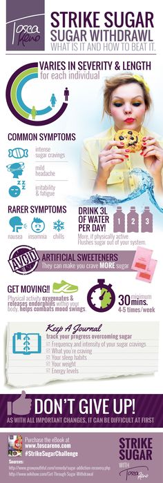 #StrikeSugarChallenge #infographic for tips on overcoming sugar withdrawal!