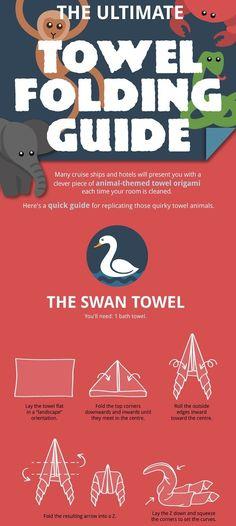 How To Fold Towels Into Animal Shapes - DesignTAXI.com