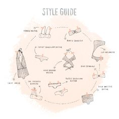 Illustrated style guide for ANI bikinis - by Kelli Murray