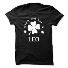 Kiss me im a LEO - #navy sweatshirt #work shirt. WANT THIS => https://www.sunfrog.com/Names/Kiss-me-im-a-LEO-icjxkmodqg.html?id=60505