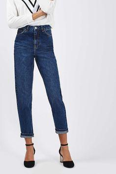 MOTO Dark Blue Mom Jeans - Jeans - Clothing - Topshop