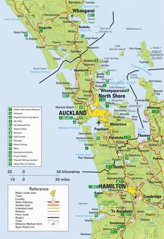 new zealand maps auckland region
