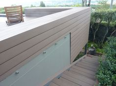 Cladded wall in pretoria, works great with decking and built in bench.