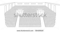 interior of cinema hall plan vector by shooarts, via Shutterstock
