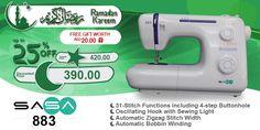 SASA 883 #ramadan #kareem #discount #sale #sewing #machine #sasa #stitch #fashion #online #mall