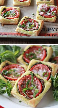 Tomato Pesto Tarts with Optional Prosciutto | Click Pic for 18 Easy Vegetarian Recipes for Christmas | Easy Healthy Christmas Snacks and Appetizers