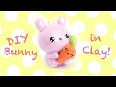 Cute Bunny & Carrot charm DIY! -in Clay!- | Kawaii Friday - YouTube