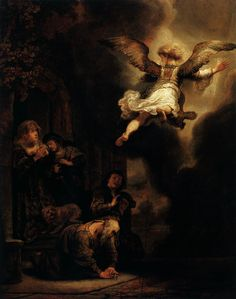 Rembrandt, The Archangel Leaving the Family of Tobias (1637)