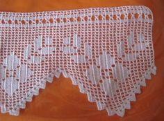 Learn to Crochet – Crochet Wave Fan Edging. Crochet Patterns Filet, Doily Patterns, Filet Crochet, Crochet Curtains, Crochet Doilies, Crochet Trim, Crochet Lace, Crochet Boarders, Linens And Lace