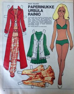 Finnish Paper Doll Ursula Rainio (born Merja Hannele Rainio, 1950 in Rovaniemi) is a Finnish beauty queen (1970 Miss Finland), model and actress.  Since 2000, he has worked as a real estate broker.