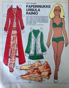 Paper doll Ursula Rainio 1970